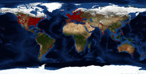 Map that shows readers for the last 2 months.